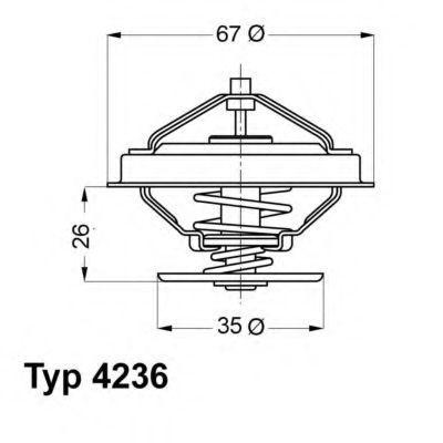 Термостат с прокладкой WAHLER 4236.92D