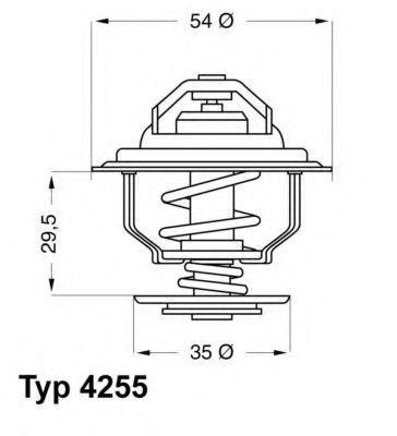 Термостат с прокладкой WAHLER 4255.92D
