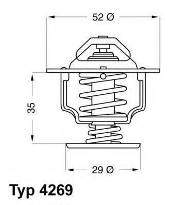Термостат WAHLER 4269.78D
