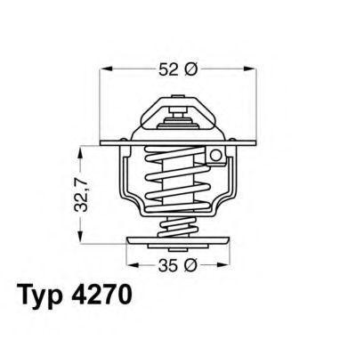 Термостат с прокладкой WAHLER 427088D