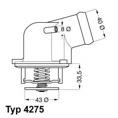 Термостат с прокладкой WAHLER 427587D