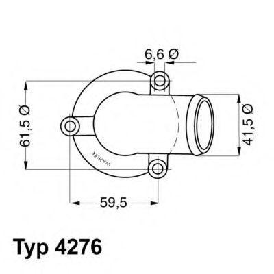 Термостат WAHLER 427687D
