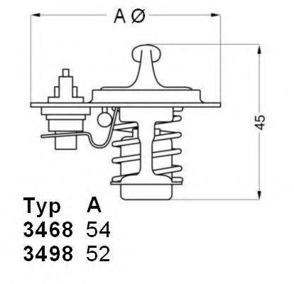 Термостат с прокладкой WAHLER 3498.88D