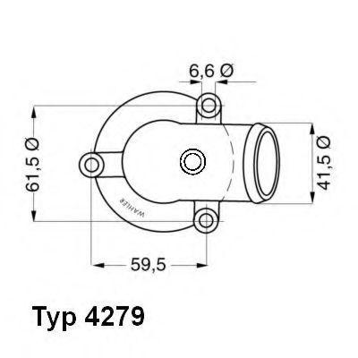Термостат WAHLER 4279.87D