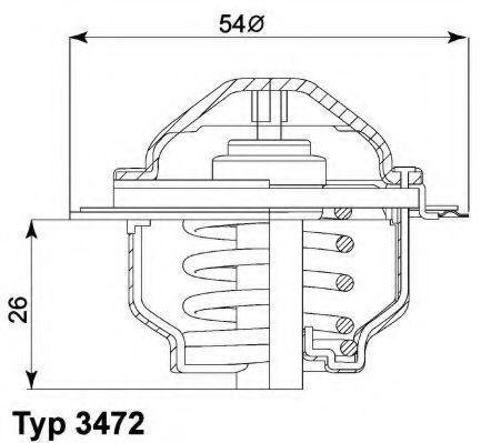 Термостат WAHLER 347287D