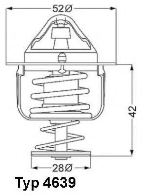 Термостат WAHLER 4639.82D