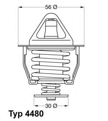 Термостат WAHLER 448082D