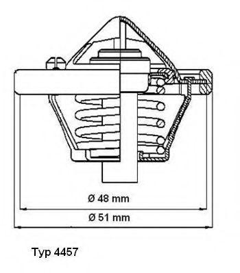Термостат WAHLER 445782D