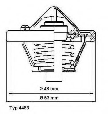 Термостат WAHLER 448382D