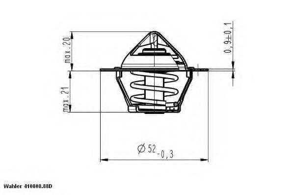 Термостат, охлаждающая жидкость WAHLER 41080888D