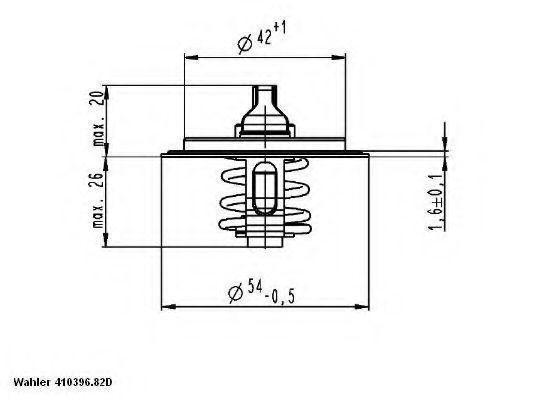 Термостат с прокладкой WAHLER 410396.82D