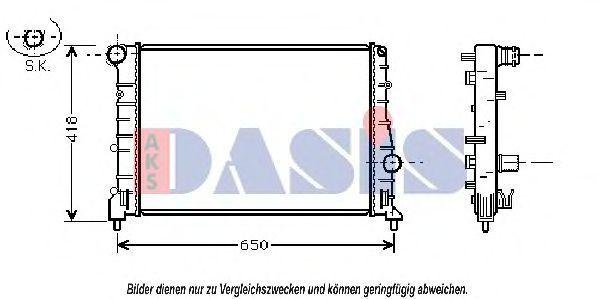 Радиатор, охлаждение двигателя AKS DASIS 010006N