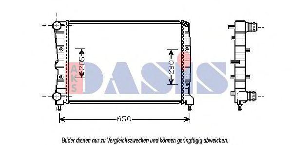 Радиатор, охлаждение двигателя AKS DASIS 011001N