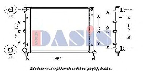 Радиатор, охлаждение двигателя AKS DASIS 011030N