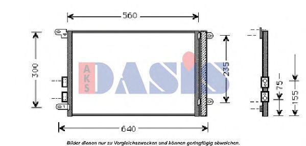 Конденсатор, кондиционер AKS DASIS 012280N