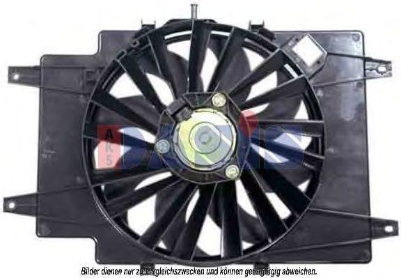 Вентилятор, охлаждение двигателя AKS DASIS 018004N