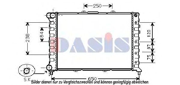 Радиатор, охлаждение двигателя AKS DASIS 020021N