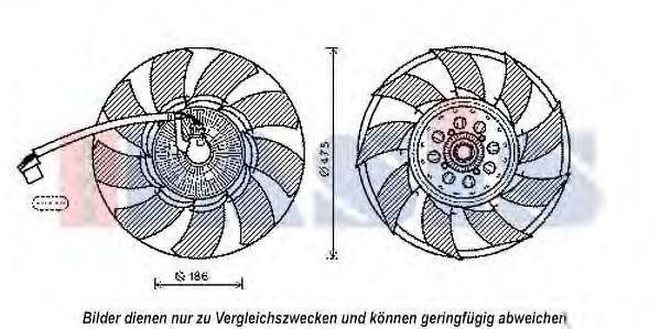 Сцепление, вентилятор радиатора AKS DASIS 028002N