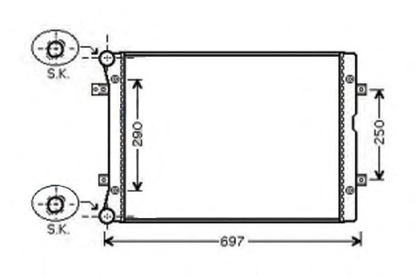Радиатор, охлаждение двигателя AKS DASIS 040001N