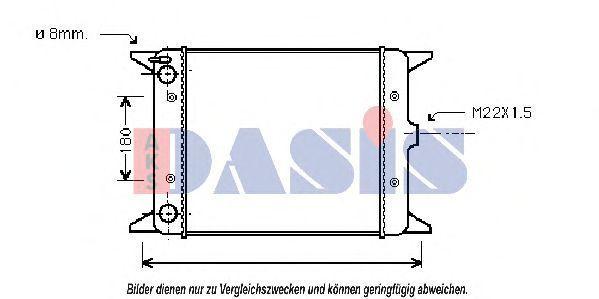 Радиатор, охлаждение двигателя AKS DASIS 040020N
