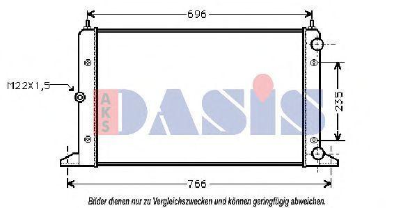Радиатор, охлаждение двигателя AKS DASIS 040470N