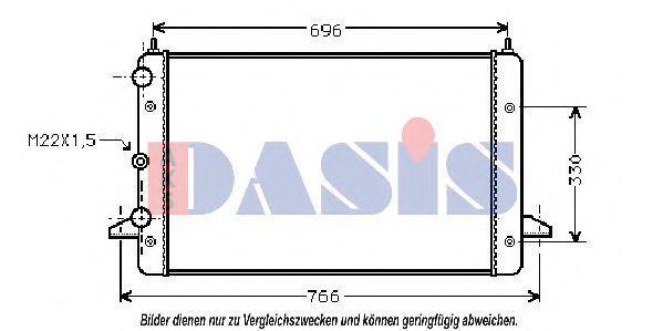 Радиатор, охлаждение двигателя AKS DASIS 040480N