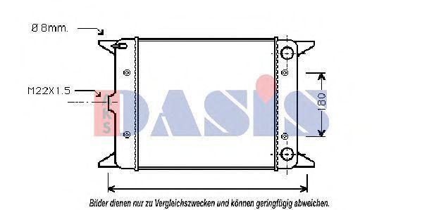 Радиатор, охлаждение двигателя AKS DASIS 041530N