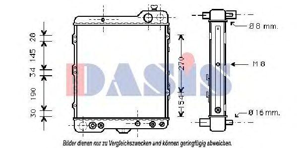 Радиатор, охлаждение двигателя AKS DASIS 043820N