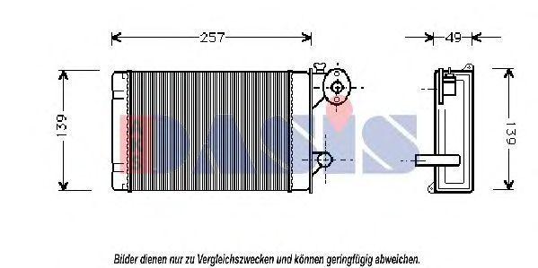 Теплообменник, отопление салона AKS DASIS 049010N