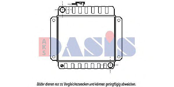 Радиатор, охлаждение двигателя AKS DASIS 050010N