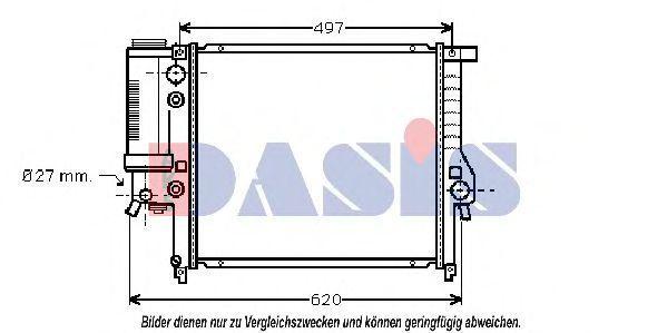Радиатор, охлаждение двигателя AKS DASIS 050016N