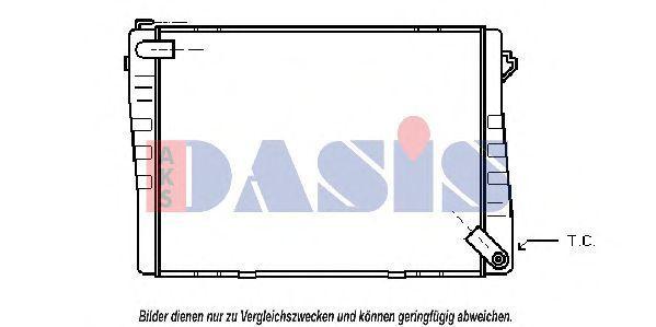 Радиатор, охлаждение двигателя AKS DASIS 050020N
