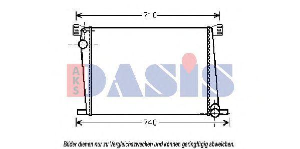 Радиатор, охлаждение двигателя AKS DASIS 050031N