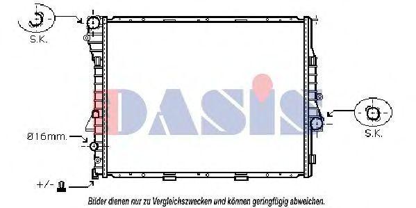 Радиатор, охлаждение двигателя AKS DASIS 050033N