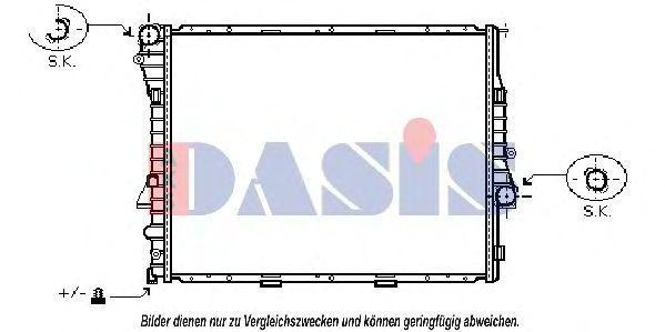 Радиатор, охлаждение двигателя AKS DASIS 050034N