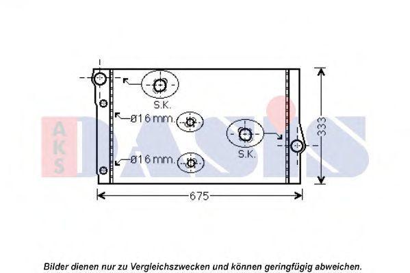 Радиатор, охлаждение двигателя AKS DASIS 050059N