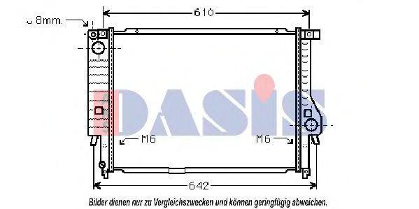 Радиатор, охлаждение двигателя AKS DASIS 050130N