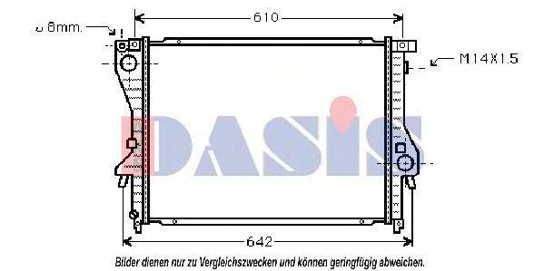 Радиатор, охлаждение двигателя AKS DASIS 051810N