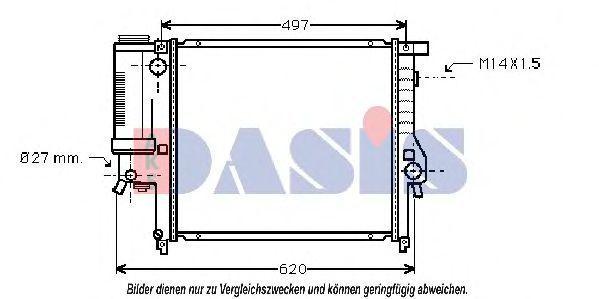 Радиатор, охлаждение двигателя AKS DASIS 051990N
