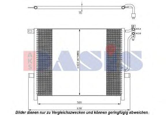 Конденсатор, кондиционер AKS DASIS 052017N