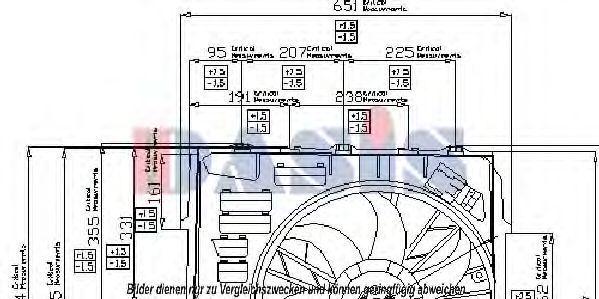 Вентилятор, охлаждение двигателя AKS DASIS 058000N