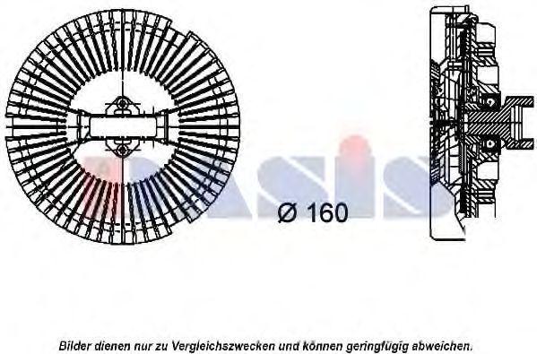 Сцепление, вентилятор радиатора AKS DASIS 058015N