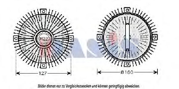Сцепление, вентилятор радиатора AKS DASIS 058150N