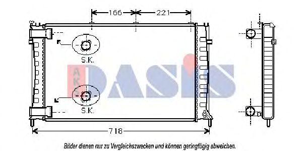 Радиатор, охлаждение двигателя AKS DASIS 060000N