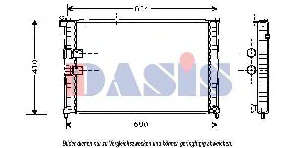 Радиатор, охлаждение двигателя AKS DASIS 060012N