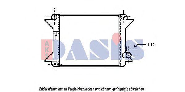 Радиатор, охлаждение двигателя AKS DASIS 060020N