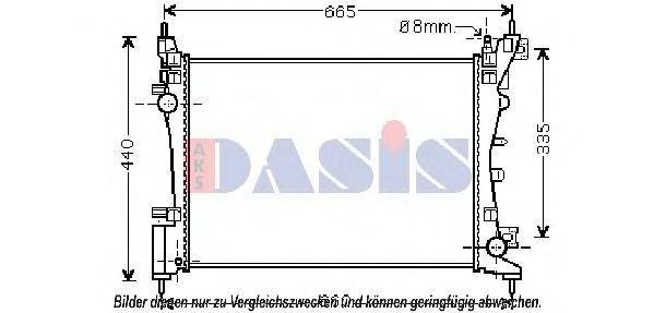 Радиатор, охлаждение двигателя AKS DASIS 060024N