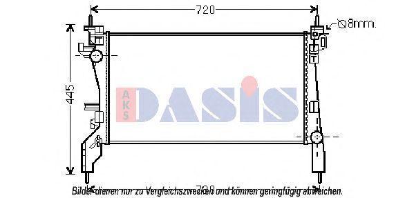Радиатор, охлаждение двигателя AKS DASIS 060025N