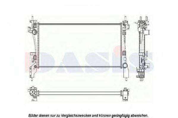 Радиатор, охлаждение двигателя AKS DASIS 060026N