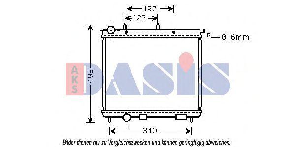 Радиатор, охлаждение двигателя AKS DASIS 060034N